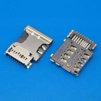 Коннектор SIM + MMC карт для телефона Samsung I8552