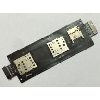 Коннекторы SIM + MMC карт на шлейфе для телефона Asus ZenFone 2 5.5 ZE550ML