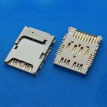 Коннектор SIM + MMC карт для телефона Samsung I9200 Galaxy Mega 6.3
