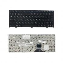Клавиатура для ноутбука Clevo M1115, черная, с рамкой