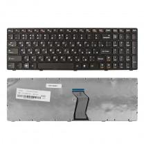 Клавиатура для ноутбука Lenovo B570, черная, с рамкой