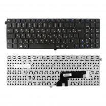 Клавиатура для ноутбука Clevo W550EU, Г-образный Enter, черная, без рамки