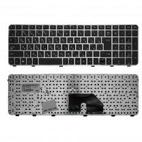 Клавиатура для ноутбука HP Pavilion DV6-6000, Г-образный Enter, черная, с серой рамкой