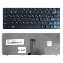 Клавиатура для ноутбука Lenovo IdeaPad B480, плоский Enter, черная, с рамкой