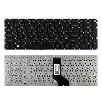 Клавиатура для ноутбука Acer Aspire E5-522, Г-образный Enter, черная, без рамки