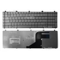 Клавиатура для ноутбука Asus N55, серебристая
