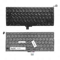 Клавиатура для ноутбука Apple MacBook Pro 13 A1278 2008-2012, черная, без рамки