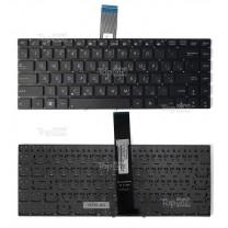 Клавиатура для ноутбука Asus S46, черная, без рамки