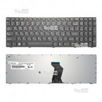 Клавиатура для ноутбука Lenovo B570, черная, с серой рамкой