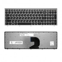 Клавиатура для ноутбука Lenovo IdeaPad IdeaPad P500, черная, с серой рамкой