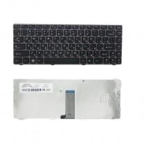Клавиатура для ноутбука IBM Lenovo Z470, черная, с серебристой рамкой