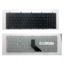 Клавиатура для ноутбука Clevo W350, черная, без рамки