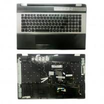 Клавиатура для ноутбука Samsung RF710, черная, c топкейсом