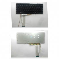 Клавиатура для ноутбука Samsung NP900X3C, чёрная, без рамки, с подсветкой