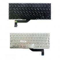 "Клавиатура для ноутбука Apple MacBook Pro 15"" A1398, черная, без рамки"
