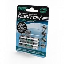 Аккумулятор AA, Ni-Mh, 2600 mAh, Robiton