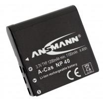 Аккумулятор NP 40 для фотоаппарата Casio EXILIM EX-FC100, Li-ion, 1200 mAh
