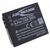 Аккумулятор CGA-S005 для фотоаппарата Panasonic Lumix DMC- FX01, Li-ion, 1150 mAh