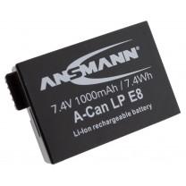 Аккумулятор LP-E8 для фотоаппарата Canon EOS 550D, Li-ion, 1000 mAh