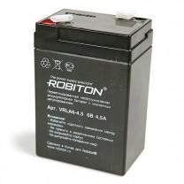 Свинцово-кислотный аккумулятор Robiton VRLA6-4.5, 6 В, 4.5 А∙ч