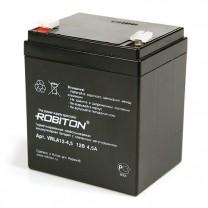 Свинцово-кислотный аккумулятор Robiton VRLA12-4.5, 12 В, 4.5 А∙ч