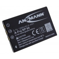 Аккумулятор NP-60 для фотоаппарата Fujifilm FinePix M50i, Li-ion, 1200 mAh