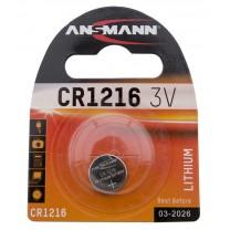 CR1216, батарейка литиевая Ansmann