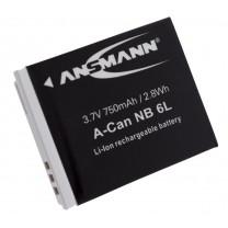 Аккумулятор NB-6L для фотоаппарата Canon PowerShot S90, Li-ion, 750 mAh