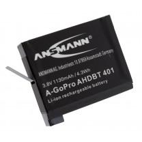 Аккумулятор AHDBT 401 для экшн-камеры GoPro Hero 4, Li-ion, 1130 mAh
