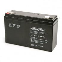 Свинцово-кислотный аккумулятор Robiton VRLA6-12, 6 В, 12 А∙ч