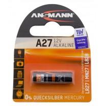 A27, батарейка алкалиновая (щелочная) Ansmann