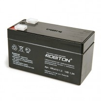 Свинцово-кислотный аккумулятор Robiton VRLA12-1.3, 12 В, 1.3 А∙ч