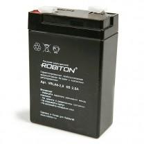 Свинцово-кислотный аккумулятор Robiton VRLA6-2.8, 6 В, 2.8 А∙ч