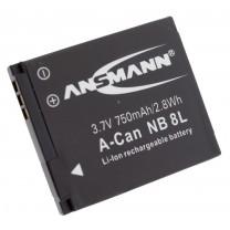 Аккумулятор NB-8L для фотоаппарата Canon PowerShot A2200, Li-ion, 750 mAh