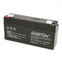 Свинцово-кислотный аккумулятор Robiton VRLA6-3.3, 6 В, 3.3 А∙ч
