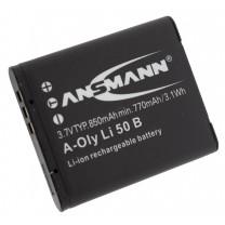 Аккумулятор LI-50B для фотоаппарата Olympus SP-800, Li-ion, 1050 mAh
