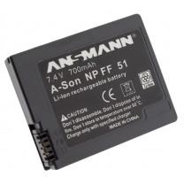 Аккумулятор NP-FF51 для видеокамеры Sony DCR-HC1000, Li-ion, 700 mAh