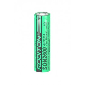 Аккумулятор 18650 до 35 A, Li-ion, 2600 mAh, Robiton