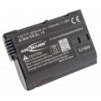 Аккумулятор EN-EL15 для фотоаппарата Nikon D800, Li-ion, 1600 mAh