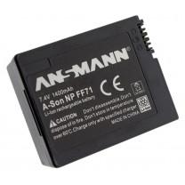 Аккумулятор NP-FF71 для видеокамеры Sony DCR-IP1E, Li-ion, 1400 mAh