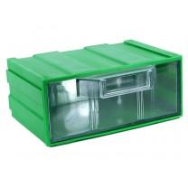 Контейнер К1, корпус зеленый (лоток прозрачный), 131х107х57мм
