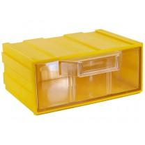 Контейнер К1, корпус желтый (лоток прозрачный), 131х107х57мм