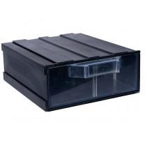 Контейнер К2, корпус черный (лоток прозрачный), 133х167х57мм