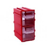 Контейнер К3, корпус красный (лоток прозрачный), 49х82х100мм