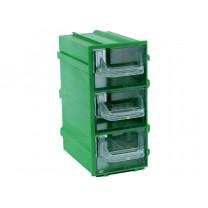 Контейнер К4, корпус зеленый (лоток прозрачный), 49х82х100мм