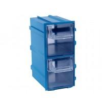 Контейнер К3, корпус синий (лоток прозрачный), 49х82х100мм