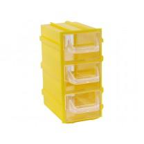Контейнер К4, корпус желтый (лоток прозрачный), 49х82х100мм