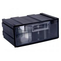 Контейнер К1, корпус черный (лоток прозрачный), 131х107х57мм