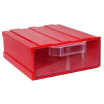 Контейнер К2, корпус красный (лоток прозрачный), 133х167х57мм