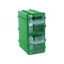 Контейнер К3, корпус зеленый (лоток прозрачный), 49х82х100мм